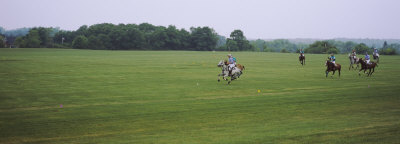 Group of Men Playing Polo in a Field, New York State, USA Photographic Print by  Panoramic Images