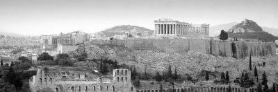 High Angle View of Buildings in a City, Parthenon, Acropolis, Athens, Greece Photographic Print by  Panoramic Images
