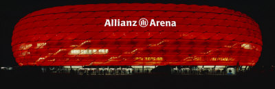 Soccer Stadium Lit Up at Night, Allianz Arena, Munich, Germany Photographie