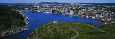 High Angle View of a City, Signal Hill, Saint John's, Newfoundland and Labrador, Canada Photographic Print by  Panoramic Images