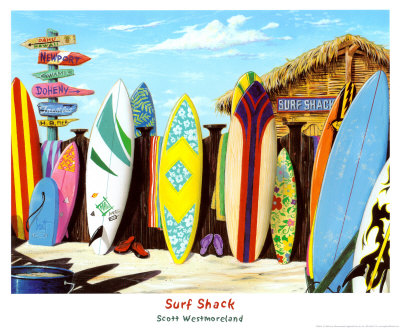 Surf Shack Print by Scott