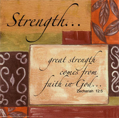 Words to Live By, Strength Mounted Print by Debbie DeWitt