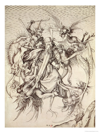 The Temptation of St. Anthony Premium Giclee Print by Martin Schongauer