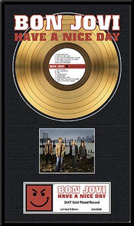 Bon Jovi Framed Memorabilia