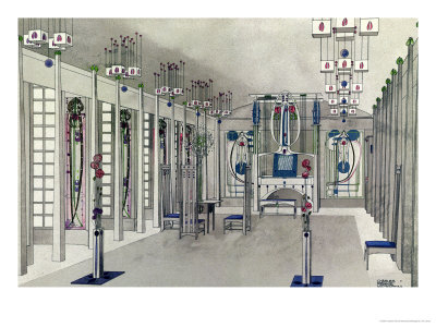 Design for a Music Room with Panels by Margaret Macdonald Mackintosh 1901 Giclee Print by Charles Rennie Mackintosh