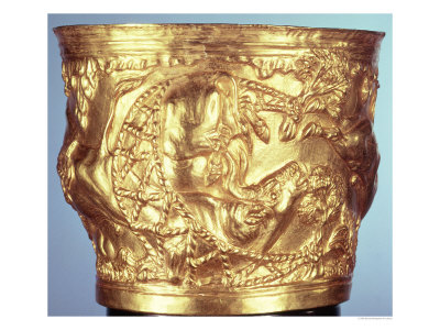 Cup, Found in the Royal Tomb of Vaphio, Sparta, Late Minoan I, circa 1500 BC Giclee Print