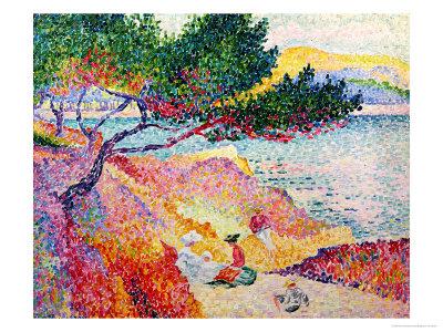 La Plage de Saint-Clair, 1906-07 Premium Giclee Print by Henri Edmond Cross