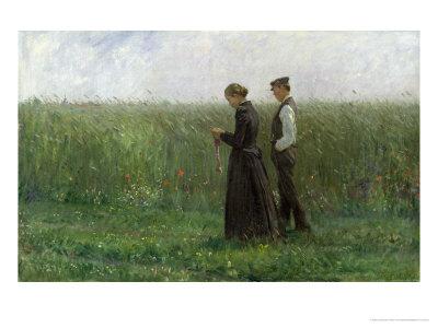 Sunday Afternoon, 1893 Premium Giclee Print by Leopold Karl Walter von Kalckreuth