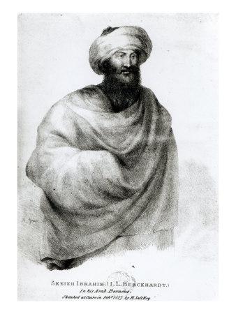 Portrait of Sheikh Ibrahim, or Johann Ludwig Burckhardt 1817 Premium Giclee Print by Henry Salt