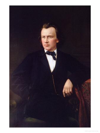 J. Brahms, circa 1860 Premium Giclee Print by Karl Von Jagemann