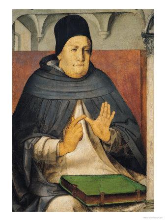 Portrait of St. Thomas Aquinas circa 1475 Premium Giclee Print by Joos van Gent