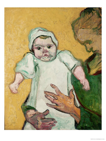 Madame Roulin and Her Baby, November 1888 Giclée-tryk