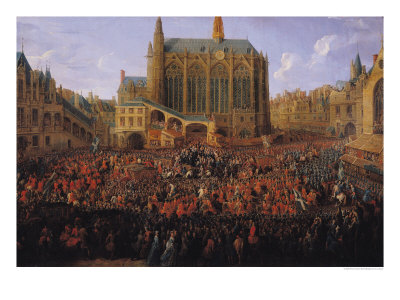 "The Departure of Louis XV from Sainte-Chapelle after the ""Lit de Justice"" 12th September 1715, 1735 Giclee Print by Pierre-Denis Martin"