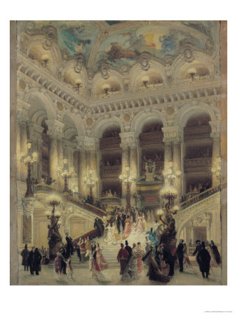 The Staircase of the Opera, 1877 Giclee Print by Louis Beroud