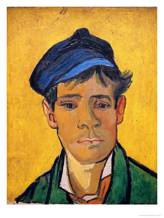 Young Man with a Hat, c.1888 Giclée-tryk