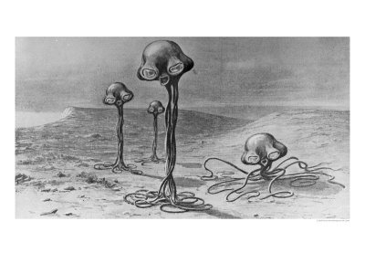 "Martians, Illustration from ""The War of the Worlds"" by H. G. Wells Giclee Print"