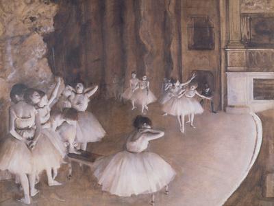 Ballet Rehearsal on the Stage, 1874 Premium Giclee Print by Edgar Degas