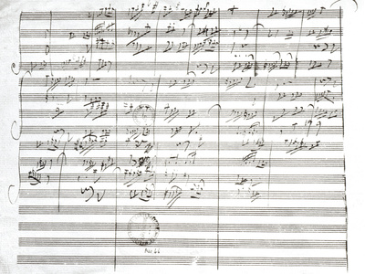 Score for the 3rd Movement of the 5th Symphony Premium Giclee Print by Ludwig Van Beethoven