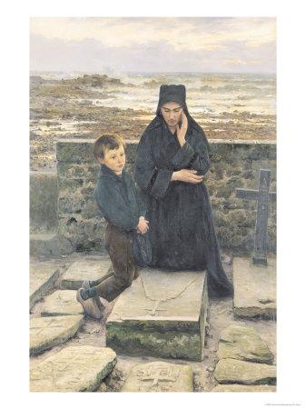 The Widow of the Ile de Sein, 1880 Premium Giclee Print by Emile Renouf