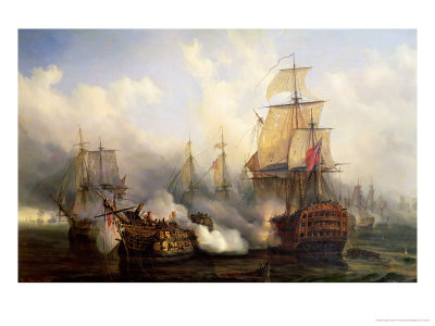 The Redoutable at Trafalgar, 21st October 1805 Premium Giclee Print by Auguste Etienne Francois Mayer