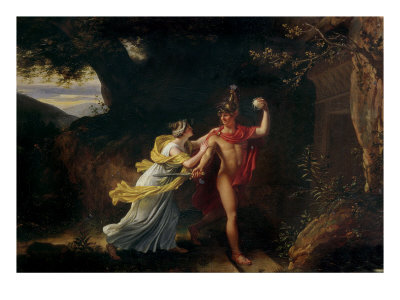 Ariadne and Theseus Premium Giclee Print by Jean-Baptiste Regnault
