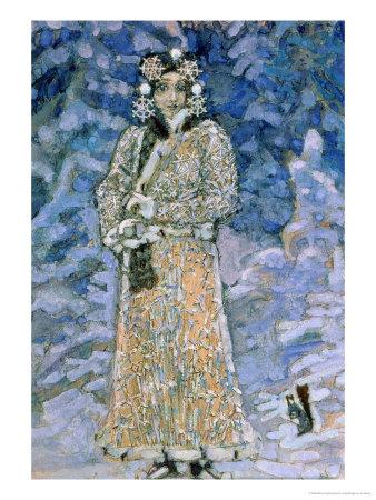 The Snow Maiden, a Sketch for the Opera by Nikolai Rimsky-Korsakov, 1890s Giclée-Druck von Mikhail Aleksandrovich Vrubel