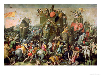 The Battle of Zama, 202 BC, 1570-80 Lámina giclée
