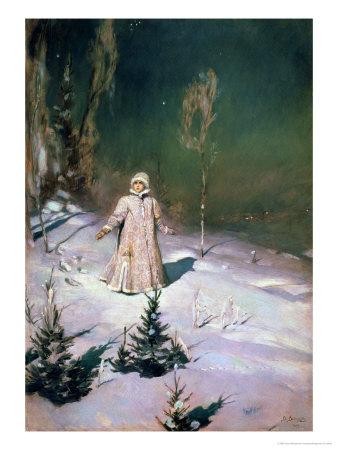 Snow Maiden, 1899 Premium Giclee Print by Victor Mikhailovich Vasnetsov