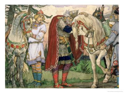 The Song of Prince Oleg, 1899 Premium Giclee Print by Victor Mikhailovich Vasnetsov