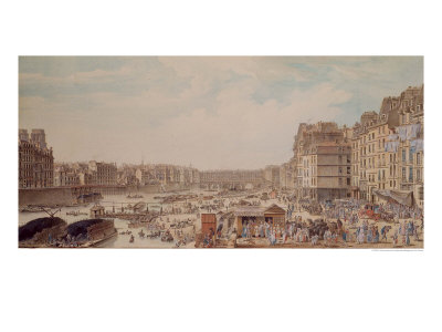 The Port au Ble and the Pont Notre-Dame, 1782 Giclee Print by Louis-Nicolas de Lespinasse