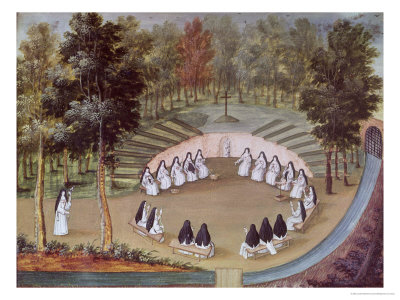 """Nuns Meeting in Solitude, from """"L'Abbaye de Port-Royal"""", circa 1710 Giclee Print by Louise-Madeleine Cochin"""
