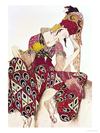 "Costume Design for Nijinsky in the Ballet ""La Peri"" by Paul Dukas 1911 Premium Giclee Print by Leon Bakst"