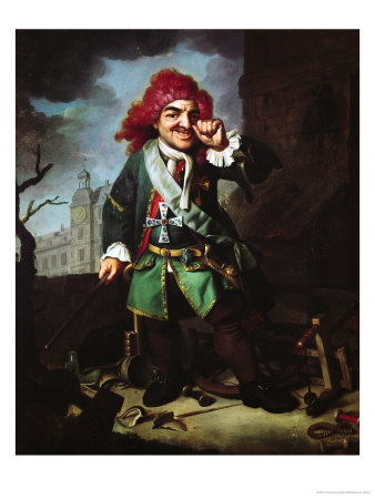Portrait of Clemens Perkeo, Fool at the Court of Heidelberg Premium Giclee Print by Johann Georg Dathan