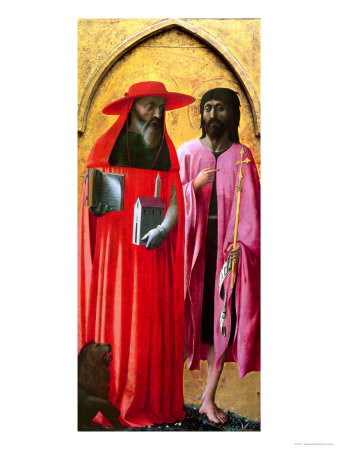 St. Jerome and St. John the Baptist, circa 1428-29 Giclee Print by T. Masaccio