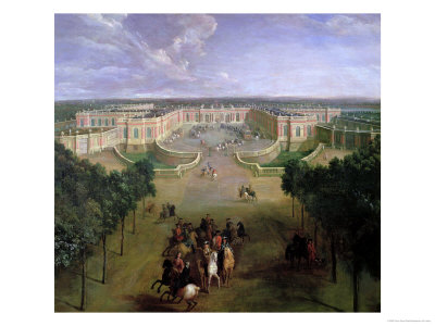 View of the Grand Trianon, 1722 Premium Giclee Print by Pierre-Denis Martin