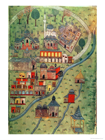 View of Eskisehir Giclee Print by Nasuh Al-silahi