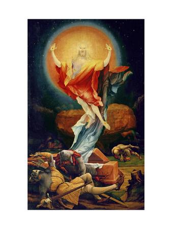 The Resurrection of Christ, from the Isenheim Altarpiece circa 1512-16 Premium Giclee Print by Matthias Grünewald