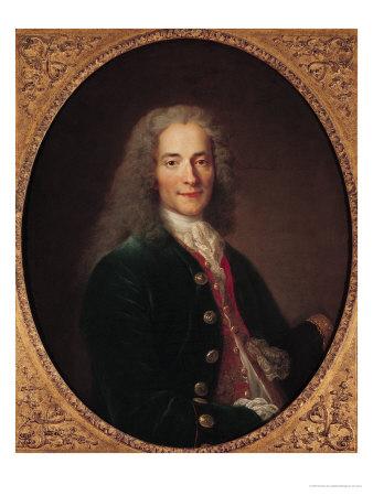 Portrait of Voltaire after 1718 Premium Giclee Print by Nicholas De Largilliere