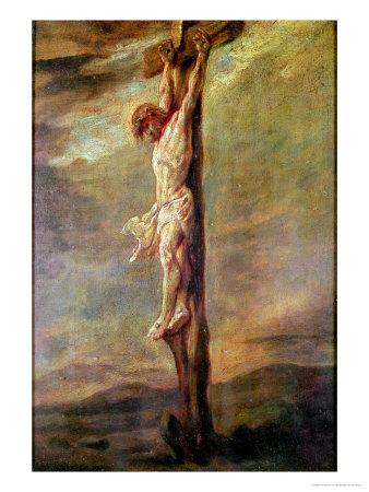 Christ on the Cross, circa 1646 Premium Giclee Print by  Rembrandt van Rijn