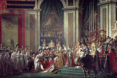 Consecration of the Emperor Napoleon and Coronation of Empress Josephine, 2nd December 1804, 1806-7 Premium Giclee Print by Jacques-Louis David