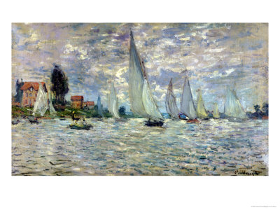 The Boats, or Regatta at Argenteuil, circa 1874 Premium Giclee Print by Claude Monet