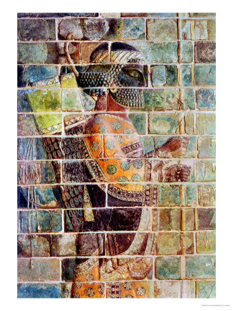 Detail of an Archer from a Frieze, from the Palace of Darius the Great at Susa Premium Giclee Print