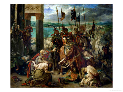 The Crusaders' Entry into Constantinople, 12th April 1204, 1840 Giclee Print by Eugene Delacroix
