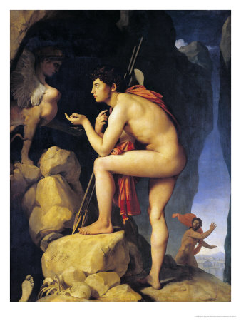 Oedipus and the Sphinx, 1808 Premium Giclee Print by Jean-Auguste-Dominique Ingres