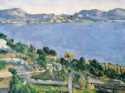 L'Estaque, View of the Bay of Marseilles, circa 1878-79 Premium Giclee Print by Paul Cézanne