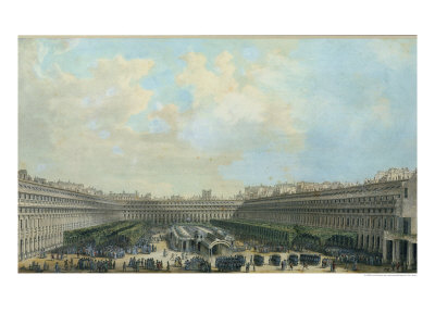 The Garden of the Palais Royal, 1791 Giclee Print by Louis-Nicolas de Lespinasse