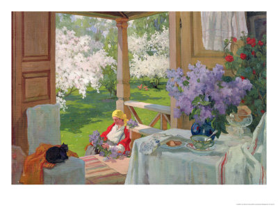 At the Country House, 1916 Giclee Print by Ivan Silovich Goryushkin-sorokopudov