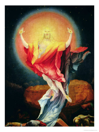 The Resurrection of Christ, from the Right Wing of the Isenheim Altarpiece, circa 1512-16 Premium Giclee Print by Matthias Grünewald