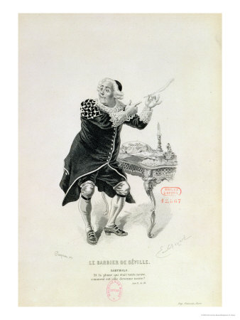 "Dr Bartolo, from the Opera ""The Barber of Seville"" by Rossini Premium Giclee Print by Emile Antoine Bayard"