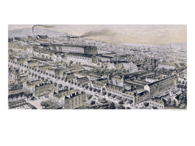 """Moet & Chandon Company, Epernay, from """"La France Vinicole"""", Published by Moet & Chandon Giclee Print by B. Arnaud"""